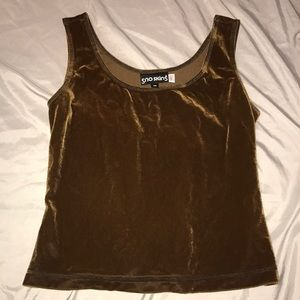 Sno Skins Brown Velvet Tank - Size Medium